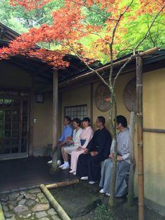 Chakai   guests waiting outside tearoom