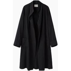 La Garçonne Moderne Painter Coat ($475) ❤ liked on Polyvore featuring outerwear, coats, jackets, coats & jackets, black kimono, black coat, kimono coat and lightweight coat