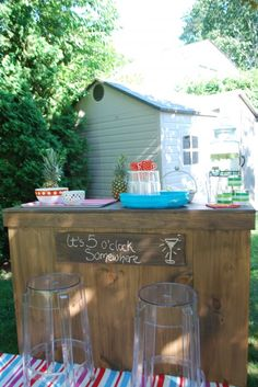 outdoor bar with built in cooler