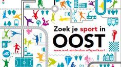 Op de sportkaart zijn alle sportaanbieders en activiteiten in Oost gemakkelijk te vinden.