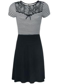 Anchor Striped - Medium-lengte jurk van Pussy Deluxe