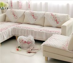 MK Sofa Cover Korean Lace Cotton LLZY Reactive Printed Home Textile Sofa  Towel Quilted Non Slip Combination Sofa Kit Cushin | Ali Style