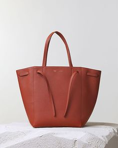 CÉLINE | Fall 2014 -  CABAS PHANTOM HANDBAG BRICK SOFT GRAINED CALFSKIN 174143VNC.28BK