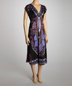 Take a look at this Black & Purple Maxi Dress by She's Cool on #zulily today!