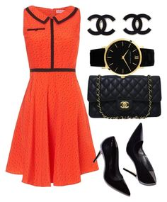 """""""red&black dress"""" by mariamsilue on Polyvore featuring Trollied Dolly, Chanel and Larsson & Jennings"""