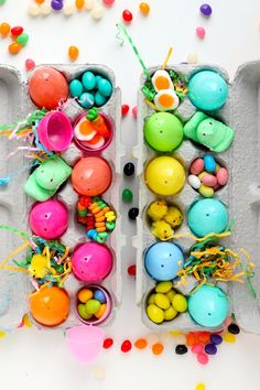 Ok, this clearly is a perfect hack for an Easter basket, but think of how egg cartons could serve as a gift receptacle for so many other occasions...