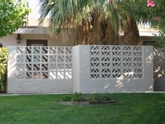 Vintage concrete block design. In a city full of concrete fences, why isn't this seen moor? Las Vegas