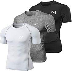 Kompressionsshirt Funktions Shirt Herren Laufshirt Fitness Sport Shirt kurzarm