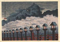 Tomikichiro Tokuriki - Le sanctuaire de Yamato Shigisan à Nara