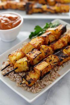 Grilled Pineapple Tofu Skewers