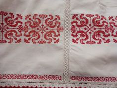 Transylvanian dowry bed cover, late 19th c? Cross stitch embroidery