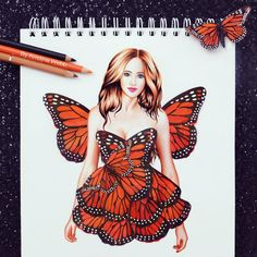 New butterfly drawing (Not real butterfly wings) :)