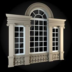 Buy Windows Collection by ThemeREX on Bundle of high quality polygonal models of windows.max Max 2010 for separate models) . House Window Design, Window Grill Design, House Front Design, Modern House Design, Door Design, Exterior Design, Neoclassical Architecture, Architecture Details, House 3d Model