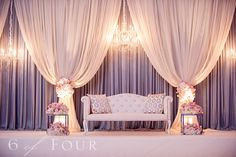 Just gorgeous decor! Could be a cute photography set (photo booth style for guests)