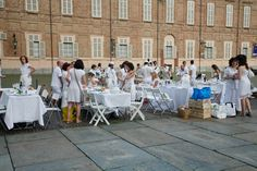 http://unconventionaldinner.blogspot.it Cena in Bianco Torino 2012 by the kitchen of Fashion
