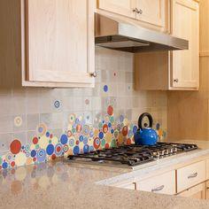 The Perfect Splash this Season - Custom Mosaic Bubbles For The Kitchen