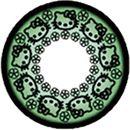 Hello Kitty Green contact lens!