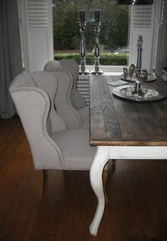 Keith Wing dining chairs, Riviera Maison