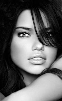 Adriana Lima on Eating Healthy While Traveling and Wearing Makeup at the Gym - Celebrities Female Beautiful Eyes, Simply Beautiful, Gorgeous Women, Girl Face, Woman Face, Pure Beauty, Beauty Women, Black And White Portraits, Adriana Lima