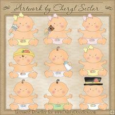 Chubby Babies 1 - Cheryl Seslar Country Clip Art