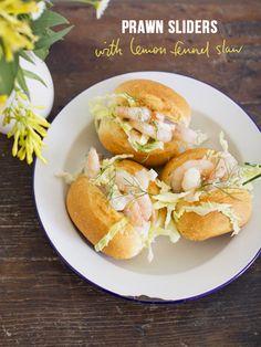 spicyicecream: Simple Dinners 11 / Prawn Sliders with Lemon Fennel Slaw