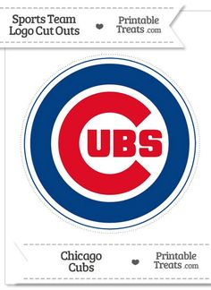 Large Chicago Cubs Logo Cut Out from PrintableTreats.com
