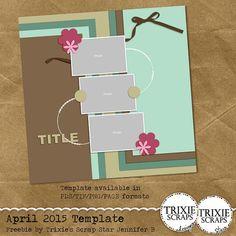 Quality DigiScrap Freebies: Template freebie from Trixie Scraps
