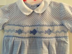 Carriage Boutiques 9 Months Smocked Fish Shortall | eBay
