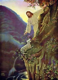 Ralph Pallen Coleman Matthew and if it may come to pass that he doth find it, verily I say to you, that he doth rejoice over it more than over the ninety-nine that have not gone astray (YLT) My favourite painting ever ♥ Pictures Of Jesus Christ, Bible Pictures, Image Jesus, Christian Pictures, Jesus Painting, Jesus Christus, Jesus Art, Prophetic Art, Biblical Art