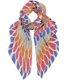 Multicoloured Vaturi Petal Print Silk Scarf, A Peace Treaty. Shop the latest scarves from the A Peace Treaty collection online at Liberty.co.uk