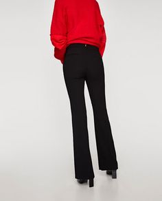 Image 6 of FLARED FLOWING TROUSERS from Zara