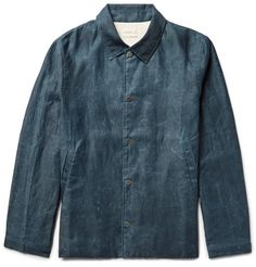 SIMON MILLER Distressed Cotton Coach Jacket. #simonmiller #cloth #coats and jackets