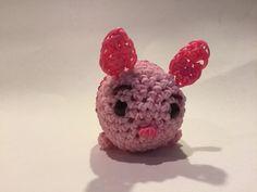 Disney's Piglet Tsum Tsum Rubber Band Figure | Amigurumi by BBLNCreations on Etsy  Loomigurumi Amigurumi Rainbow Loom