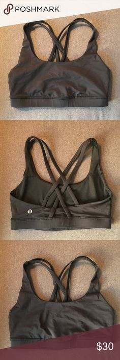 8abd54a126 Lululemon Black Sports Bra Size 4 Black strappy sports bra from Lululemon  in excellent condition Size