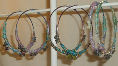 Boho Chic Hippie Hoops Wire Wrapped Crystals Tie by bellarose0417, $25.00