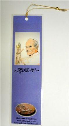 1  Pope John Paul II  81/2 inches x 21/2 inches by ArtByMarilyn, $3.00