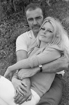 Brigitte Bardot & Sean Connery - Deauville, 1968. The First meeting between the 2 actors, before the filming of 'Shalako' / Terry O'Neill