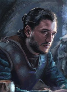 But figured I can post this Jon Snow study I tried to do messing around with texture brushes. A Storm Of Swords, Jon Snow And Daenerys, Game Of Throne Actors, Game Of Thrones Facts, King In The North, Kings Game, Painting Snow, Snow Art, Latest Games