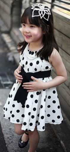 Polka dot girl dress