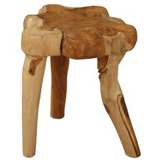 Bring a touch of rustic-chic appeal to your living room seating group or den decor with this eye-catching wood end table, showcasing a saddleback design and ...