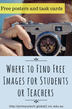 Where to Find Free Images for Students or Teachers Primary Tech Kathleen Morris | Includes printable how-tos for your classroom