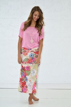 Walk In The Garden Floral Maxi Skirt - My Sisters Closet