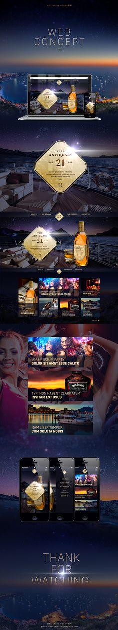 Website design alcohol on Behance