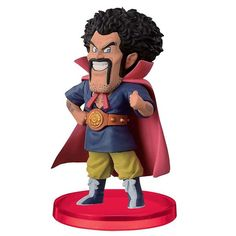This is a Dragon Ball Z World Collectible Volume 2 Hercule Figure. The Herculefigure is produced by Banpresto and is an officially licensed Japanese import fig