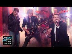 Front Man Battle w/ Queen + Adam Lambert. OMG this is hilarious!  Adam slays this