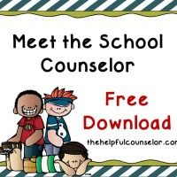 Elementary School Counselor Introduction Lesson and other free downloads
