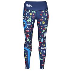Celebrate London's Landmarks With Tikiboo's Run London Blue Leggings Designed In Conjunction With The London Marathon Training & Support Group. Shop The Rest Of The Collection Online Today! Running Shorts, Workout Leggings, Running London, Compression Vest, Mens Measurements, London Marathon, London Landmarks, River Thames, Blue Leggings