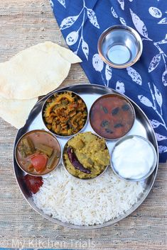 South Indian lunch – My Kitchen Trials Lunch Menu, Lunches And Dinners, Palak Paneer, Trials, Indian, Cooking, Ethnic Recipes, Kitchen, Plates