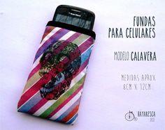 Fundas para celular!! modelo Calavera/colores, $35 en http://ofeliafeliz.com.ar