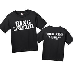 Amazon.com: Ring Security T-Shirt Personalized Custom Ring Bearer Shirt: Clothing